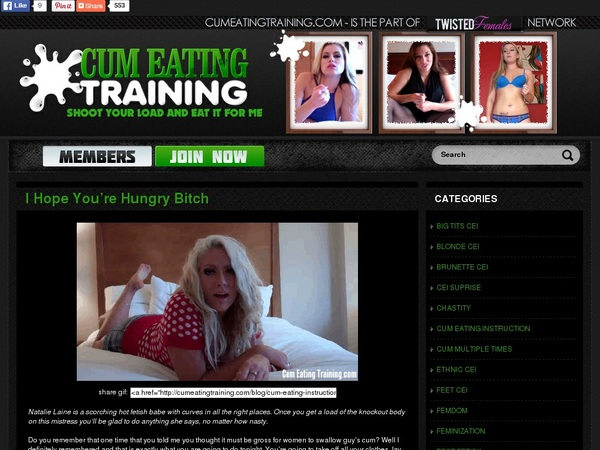 Cumeatingtraining.com Hack Account
