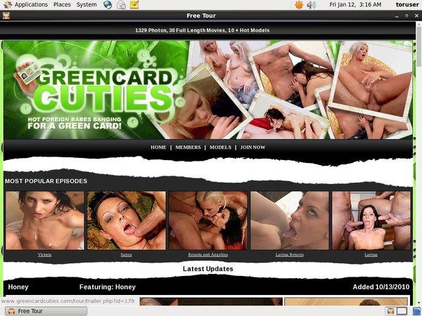 Greencardcuties Sign Up Page