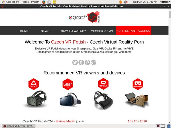 Czech VR Fetish Trial Membership