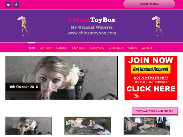 Chloes Toy Box Active Accounts