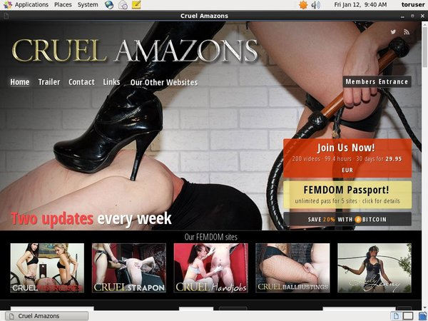 Cruel Amazons Discounted