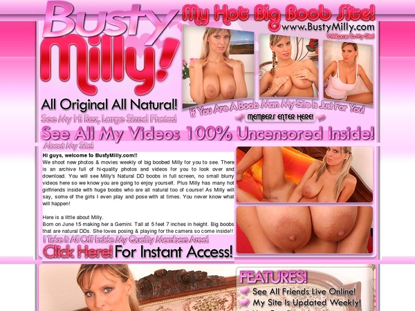 Get Busty Milly Membership Discount