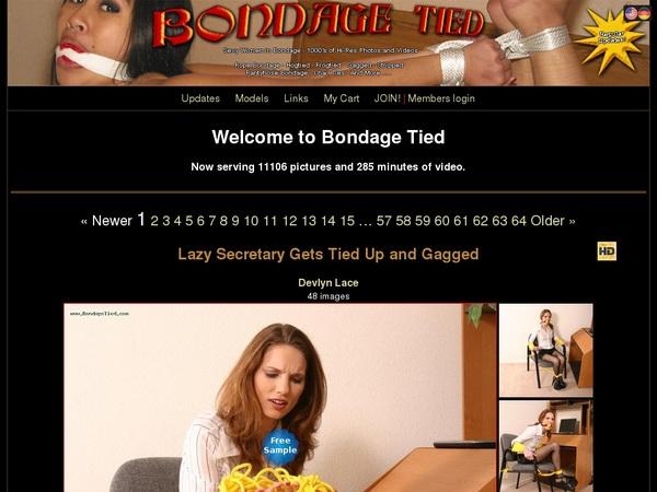 Bondage Tied Discount Promotion