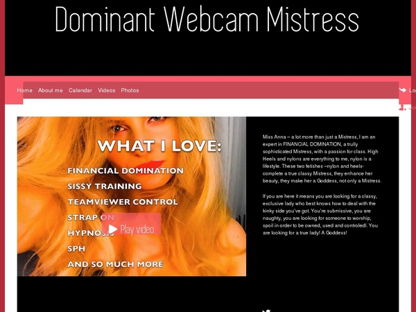 Dominant Webcam Mistress Using Paypal