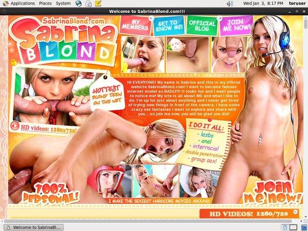 Sabrinablond.com Free Stream
