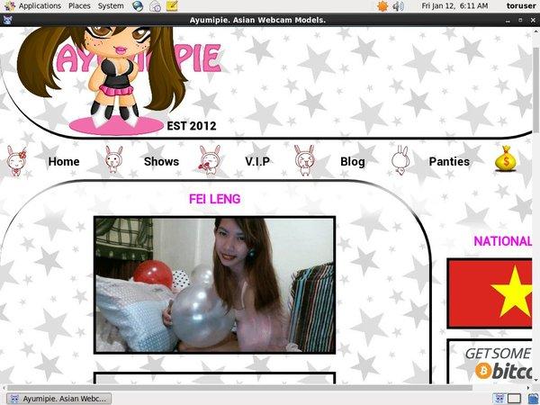 Create Ayumipie Asian Webcams Account