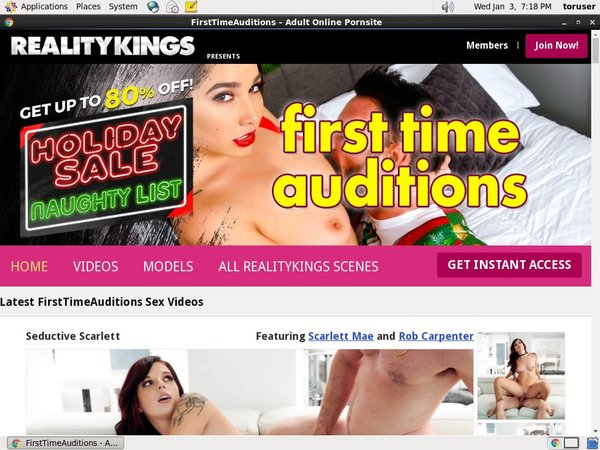 First Time Auditions Pay With
