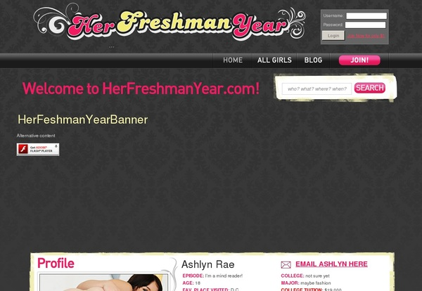 Her Freshman Year Live Cams