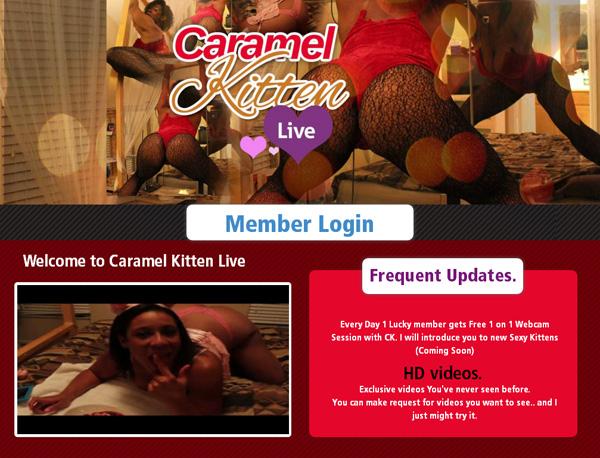 Caramel Kitten Live Free Trial Promotion